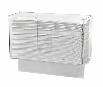 Alpine Industries Clear Wall Mounted Paper Towel Dispenser Paper Napkin Holder