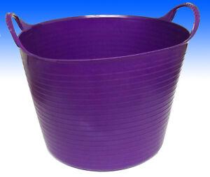 Garden Tub Trug Basket Flexi Plastic PURPLE  Great Value Other Colours Too