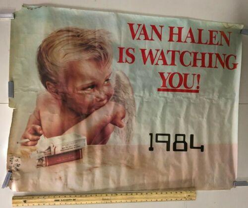 HUGE SUBWAY POSTER Van Halen Is Watching You! 1984 Hot For Teacher Metal Classic