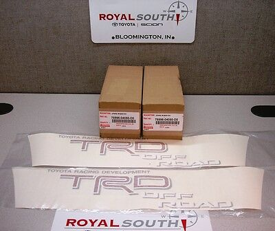 Toyota Tacoma TRD Red Off Road Decal Emblem Sticker Kit Genuine OE OEM