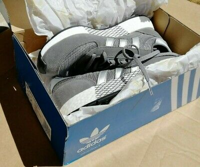 Adidas marathon trainer, size 8 UK, grey with silver stripes