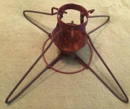 Antique Christmas Tree Stand Primitive Decor Art Deco Rare