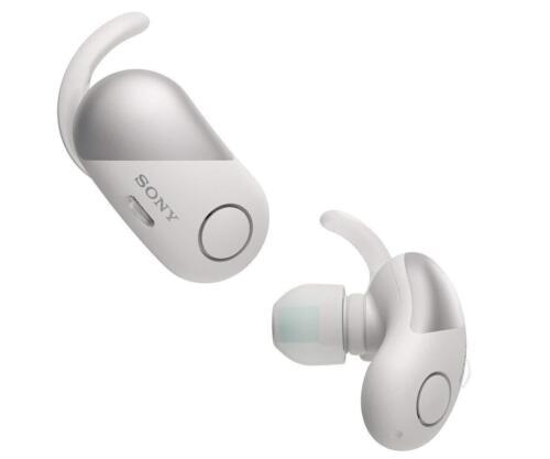 Sony WF-SP700N/W Wireless Noise Canceling Sports In-Ear Headphones, White