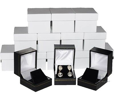 Boxes In Bulk (Jewelry Box for Earrings Box Luxury Earring Box Black Jewelry Boxes in Bulk)
