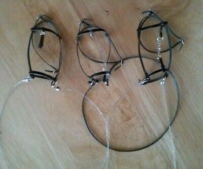 Breyer horse custom parade bridles lot three Crystal reins leather
