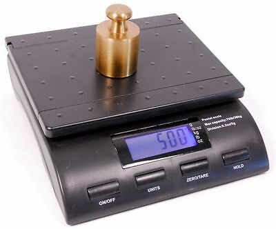Tree Sc-76 Digital Postal Shipping Weigh Scale 76lb X 0.2oz Ups Fedex Usps Black