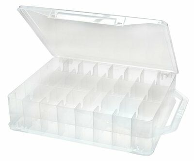 Plastic Storage Boxes Thread Organizer Spool Embroidery Floss Bobbins Holder Box