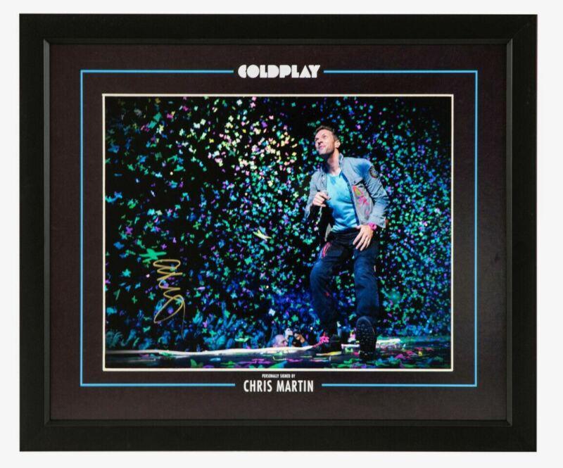 Chris Martin Signed & FRAMED Photo Giant Image COLDPLAY AFTAL COA (A)
