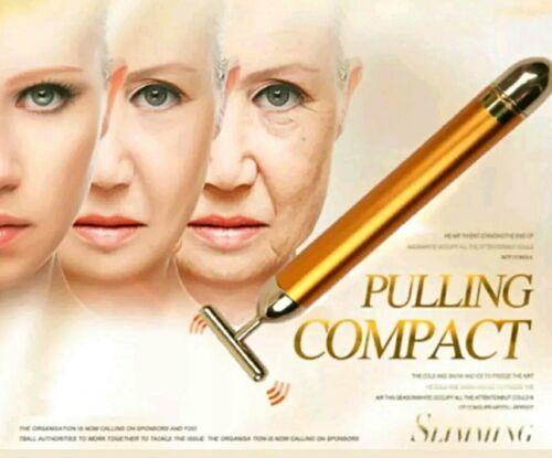 NEW BEAUTY BAR 24K GOLDEN PULSE SKIN CARE Facial Roller Gold Massage Skin Lift