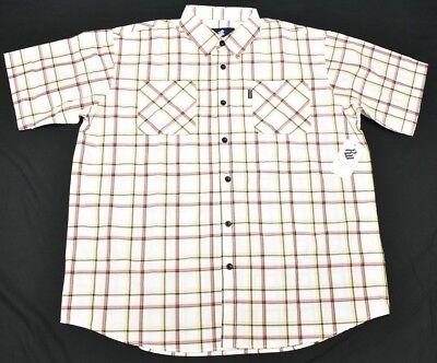 $50 NWT Mens Rocawear Button Down Shirt San Martin Plaid Woven Urban 2XB 2X N697 image