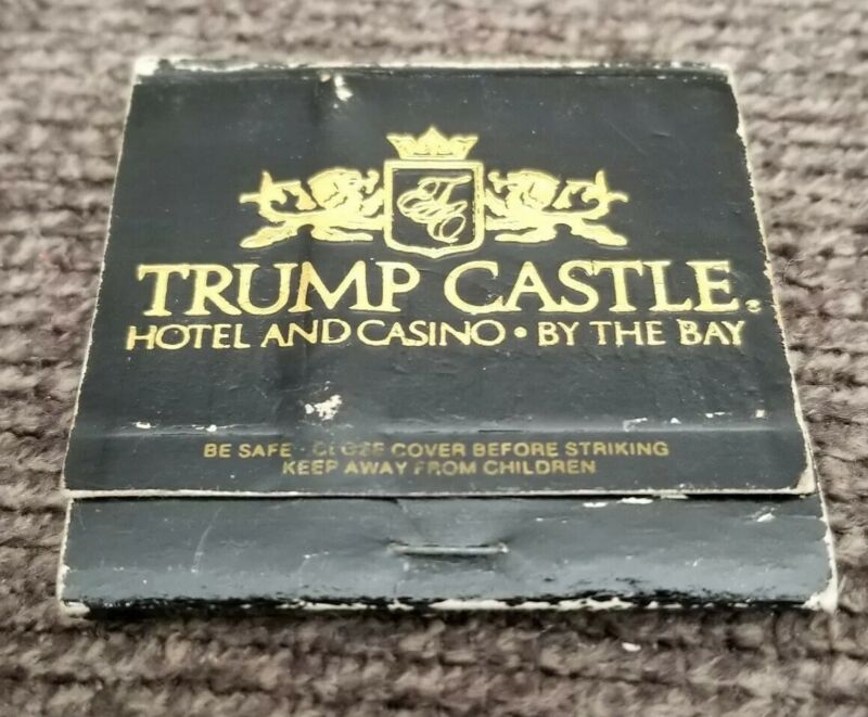 Trump Castle Casino Atlantic City New Jersey Matchbook - Used - Collectible