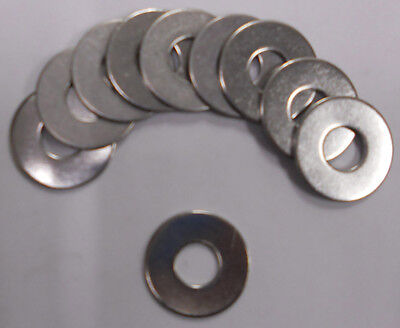 Flat Washer 3/8 x 7/8 OD Stainless Steel 18-8-SS 304 Quantity 50 ()