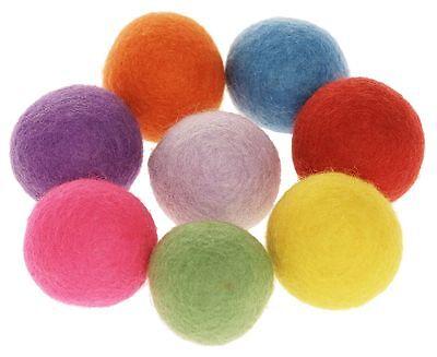 24 er Set Filzkugeln bis 1,5 cm Deko Pompon verschiedene Farben Größen bunt NEU