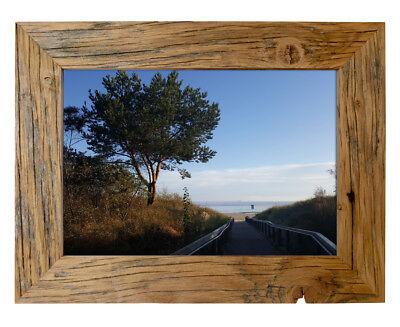 Bilderrahmen aus echtem Alt-Holz im Landhaus-Stil vintage, rustikal - handgefert