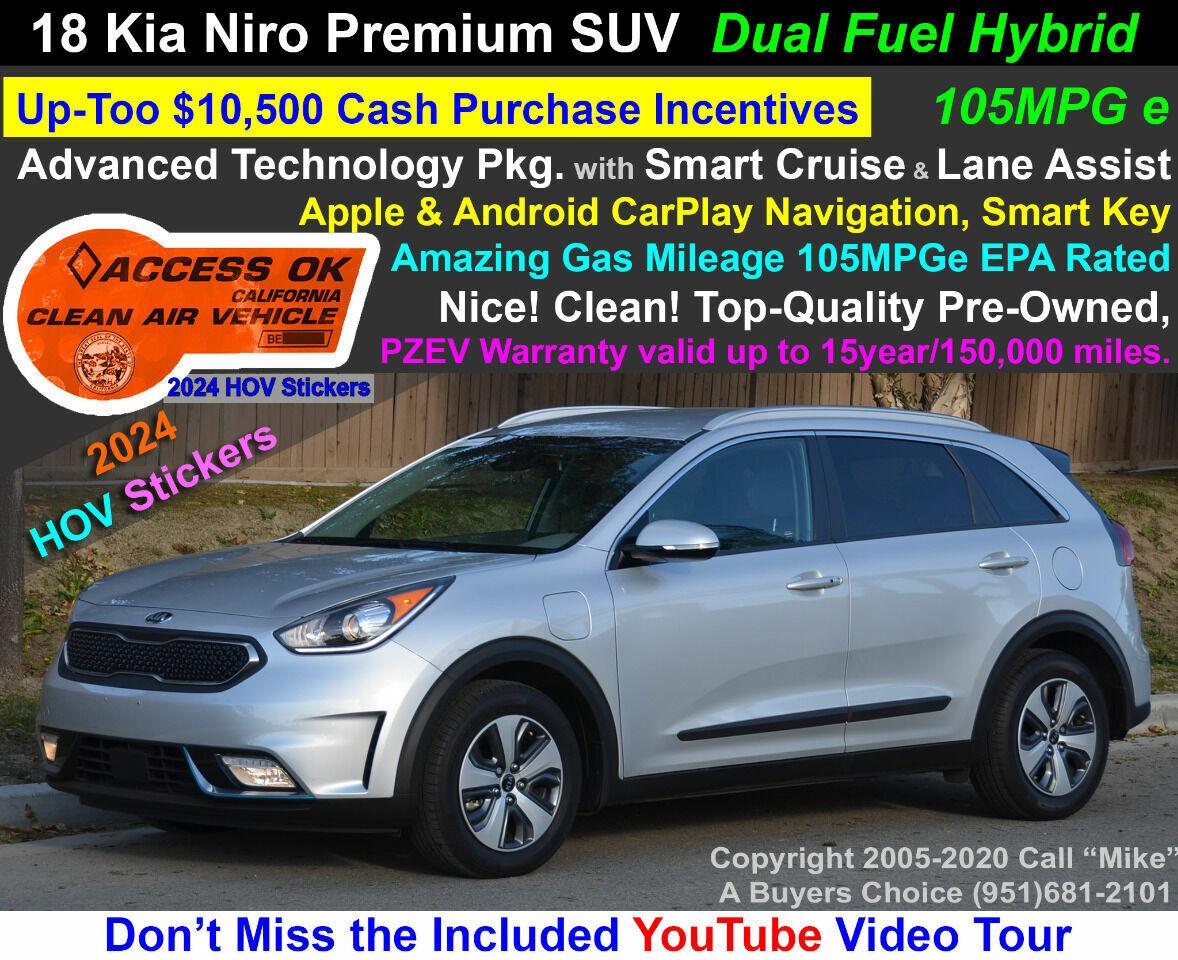 2018 Kia Niro Plug-In Hybrid EX Advanced Technology Pkg