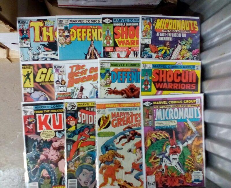 Marvel Comics Mix Bag Lot(Marvel,1980s)The Defenders,Kull,The Micronauts,Thor