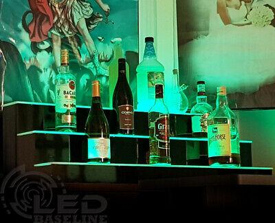 40 Led Lighted Bar Bottle Rack Shelves Remote Color Changing Three Steps
