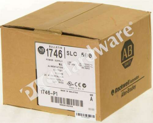 New Sealed Allen Bradley 1746-P1 /A SLC 500 Rack Mount Power Supply 120/240V AC