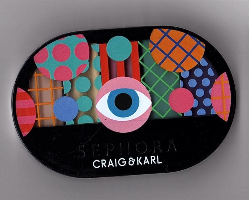 SEPHORA CRAIG & KARL COLORFUL 5 EYESHADOW PALETTE PASTEL TO POP NEW SEALED