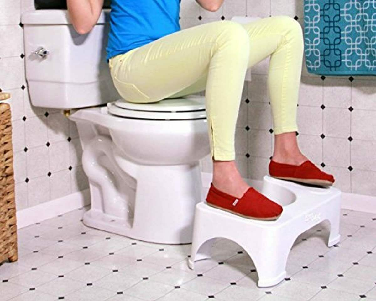 "7"" Toilet Squatty Proper Posture Step Go Potty Squat Bathroom Home Health"
