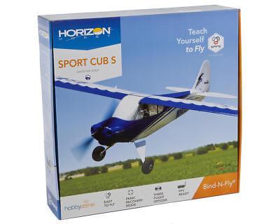 Hobbyzone Sport Cub S BNF Bind In Fly Beginner RC Airplane W/ Safe Tech HBZ4480