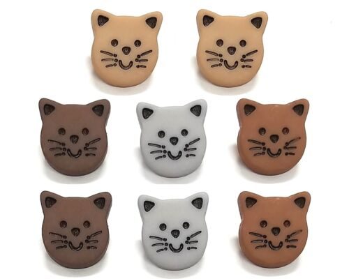 Meow Cat Face Buttons Jesse James Dress It Up Embellishment Collection