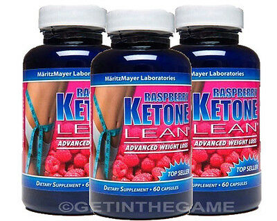 3X  Raspberry Ketone Lean Fat Burner Weight Loss 1200Mg 180 Caps Best Keytones