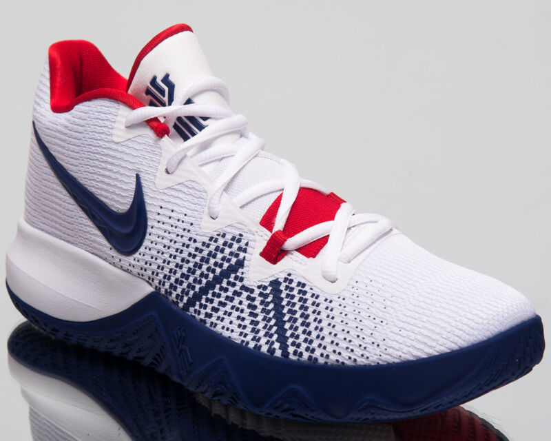 8208667a7a49 Nike Kyrie Flytrap Basketball Shoes White Deep Royal Blue Red 2018  AA7071-146