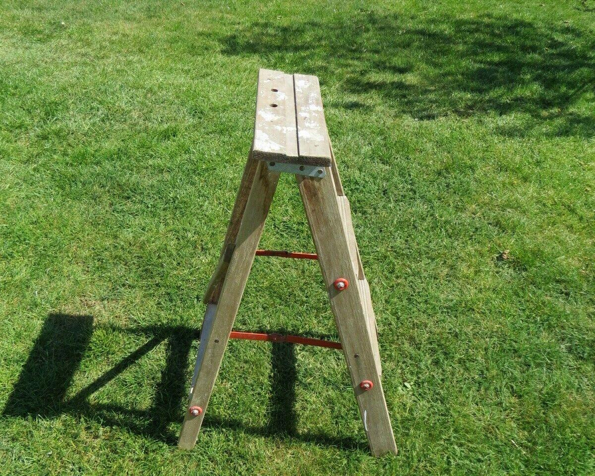 alte Leiter Holzleiter Stehleiter Staffelei Bockleiter Trittleiter aus Holz