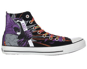 NEW-Mens-Converse-DC-HEROES-BATMAN-JOKER-Hi-Top-SIZE-8-5-9