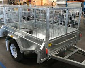 BEST PRICE - New 6x4 Galvanised Cage Tipper Box Trailer For Sale Biggera Waters Gold Coast City Preview