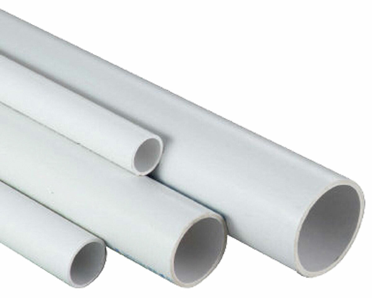 "1/2"", 3/4"", 1"", 1-1/4"", 1-1/2"", 2"" ANY SIZE WHITE PVC PIPES"
