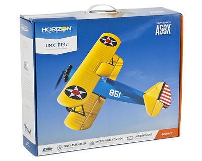 Eflite E-flite UMX PT-17 PT17 Stearman AS3X BNF Bind In Fly RC Airplane EFLU3080