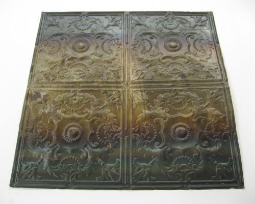 Vintage Old Metal Antique Ceiling Tins - 24 x 24 inches