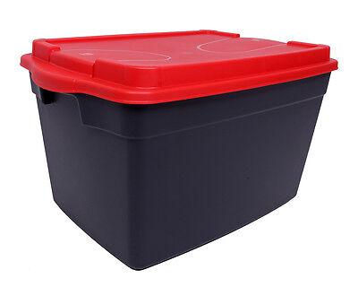 Großen Schwarzen Aufbewahrungsbox (Ondis24 Aufbewahrungsbox Großbox Lagerbox Gerätebox Stapelbox Genius M)