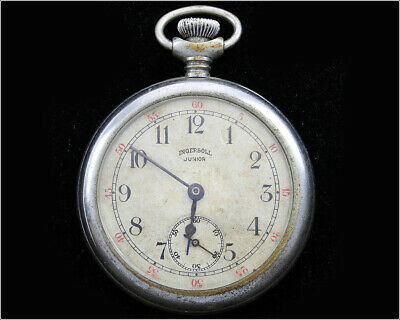 Antique 1910's INGERSOLL JUNIOR Pocket Watch - Freely Balance - For Repair