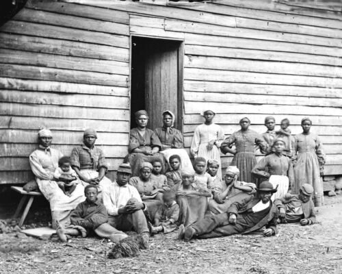 1862-Group of Contrabands-Escaped Slaves-Cumberland Virginia Photo