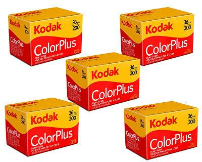 5 Rolls - Kodak Color Plus 200 - 35mm 36exp - 135-36 - Dated 06/2022