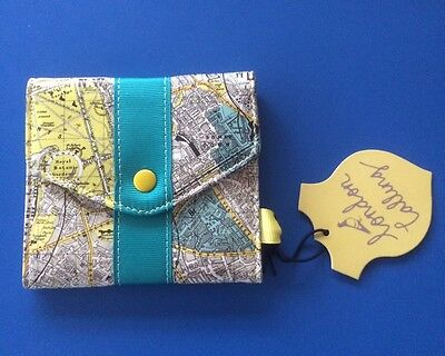 Wild & Wolf Card Purse London Map Design - BNWT