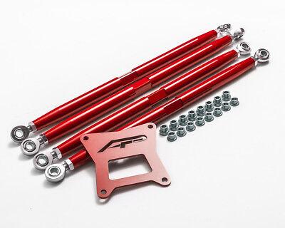 Einstellbare Power Set (Agency Power Rot Einstellbar Hinten Arme Set Polaris Rzr XP 1000 / XP Turbo)
