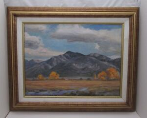 TAOS MOUNTAIN, NEW MEXICO OIL PAINTING BY TOM WARD (d.), SEDONA ARIZONA ARTIST