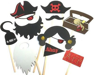 Photo Booth Props 10PC Pirate Party Photo Booth Props  - Pirate Photo Booth Props