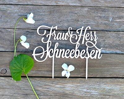Cake Topper Herr und Frau Nachname Hochzeitstorte Gold Silber Weiß Schwarz Rot