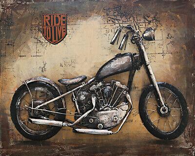 Hand Made Harley Davidson Huge 3 D Painting For Home/Garage Decoration DEAL