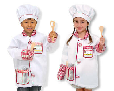 Koch Kostüm Kinder mit Kochmütze Kochjacke und Zubehör Chefkoch Verkleidung