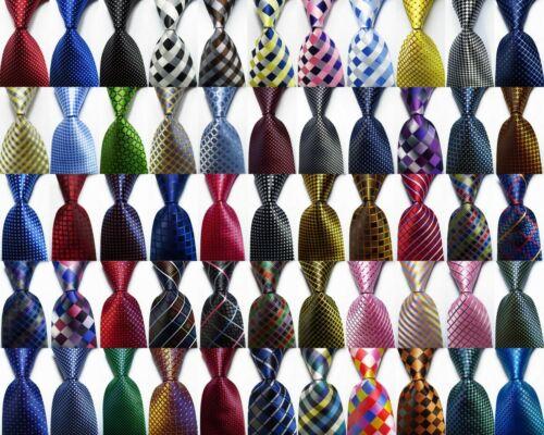 New Checks Classic Jacquard Woven 100% Silk Men