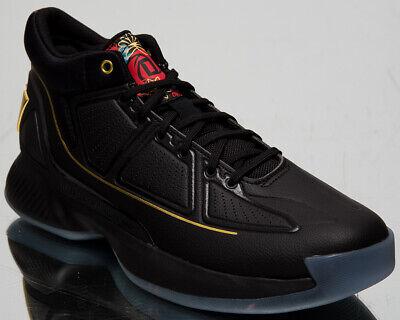 adidas D Rose 10 Men's X Derrick Black Gold Scarlet Basketball Sneakers Shoes