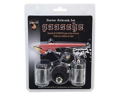 Paasche EZ Starter Single Action Airbrush Kit with Air Hose & Bottles