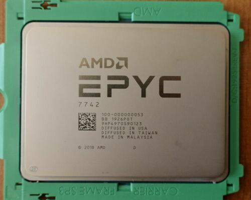 AMD EPYC 7742 64-Core 2.25GHz Socket SP3 225W Server Processor CPU 2.25 GHz