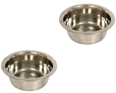 Kennel Club Medium Stainless Steel Dog Bowl, 27.45 oz. ~ Set of 2